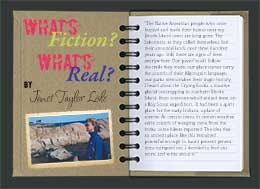 What's Real/What's Fiction